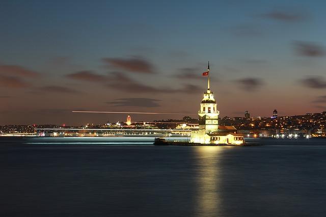 Bild på en hamn i Turkiet