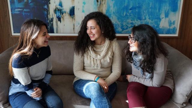 Ung och kvinna i Egypten